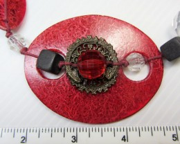 UNIQUE FASHION PINK  RED FIRE  NECKLACE    QT149