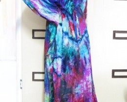 Colorful Silk Kaftan Dress  OP 1402