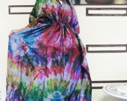 Silk Kaftan Dress colorful   OP 1404