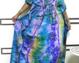 Bright Silk Kaftan Dress  OP 1406