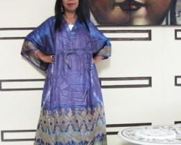 Purple Hues Silk Kaftan Dress  OP 1407