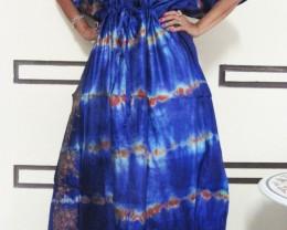 Silk Kaftan Dress Purple Tones  OP 1408