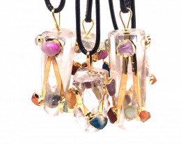 Colorful Crystal Terminated Point Pendant - Parcel x 5 - BR 826