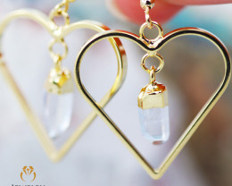 Raw Terminated beautiful Crystal Heart shape earrings BR 2216
