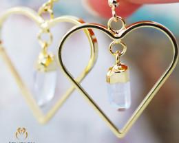 Raw Terminated beautiful Crystal Heart shape earrings BR 2216