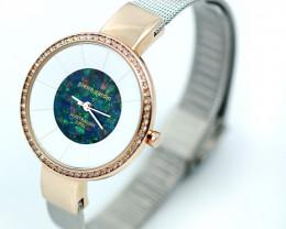 Pierre Cardin Ladies Rose/Silver Watch Mosaic Opal