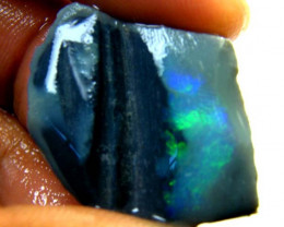 BLACK OPAL  ROUGH RUBBED BY MINER 15.70 CARATS JO66
