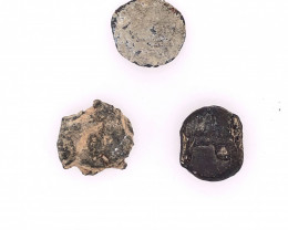 3 x Holy Land  6th century Judean  Crude Lead Bulla  CP 25