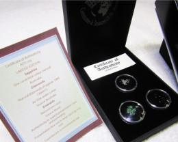 Treasures Collector set Sapphire ,Diamonds,Emeralds, AOS 105