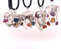 Parcel 5 x Crystal Terminated Point Pendant BR 844