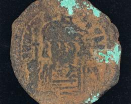 Ancient roman Byzantine AE Follis Coin   CP 33
