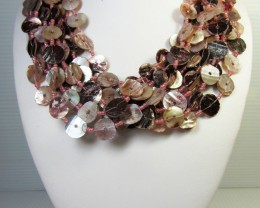 FASHION PINK PEARL SHELL   STYLE  NECKLACE   QT183