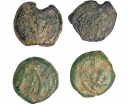 Ancient Holy land Lead Prutot Judaean 66A.D- 73A.D CP 46