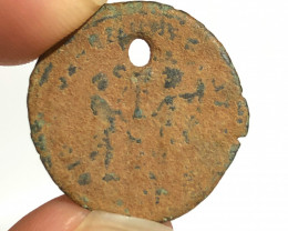 HOLED Original Desert Patina on Roman  AE coin CP 71