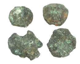 Coins  as found not cleaned Judean Bronze Platina CP 84