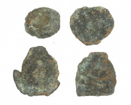 Coins  as found not cleaned Judean Bronze Platina CP 87