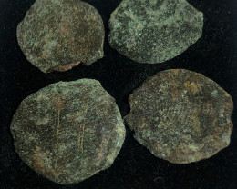 Coins  as found not cleaned Judean Bronze Platina CP 89