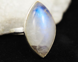 Moonstone Ring Silver 925  Size L- BR 874