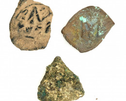 3 xAncient Roman  Byzantine Bronze   AE Coin   CP 74