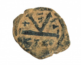 Ancient Roman  Byzantine Bronze   AE Coin   CP 75