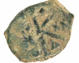 Ancient Roman  Byzantine Bronze   AE Coin   CP 81