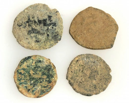 As Found, in Ancient Greece 4 x   Coins CP 193