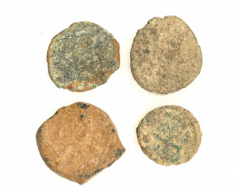 As Found, in Ancient Greece 4 x   Coins CP 199