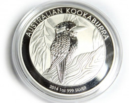 2014 Kookaburra One Ounce Silver Coin