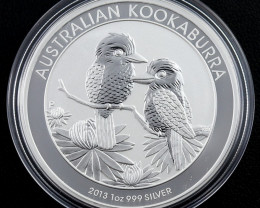 Perth mint 2013 Kookaburra One Ounce  999 PureSilver Coin- Our Auctions hav