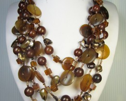 FASHION NATURAL    STYLE  NECKLACE    QT199