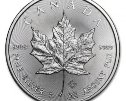 2016 New design maple leaf .9999 pure silver