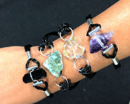 4 x Raw Rock Gemstones Bracelet - BR 954