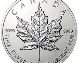 2003 Canadian Silver Maple Leaf 1oz 999.9 Fine Silver