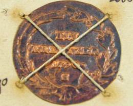 MUSEUM ARCHIVAL GERMAN STATES 1 KREUZER DATED 1790 CO 617
