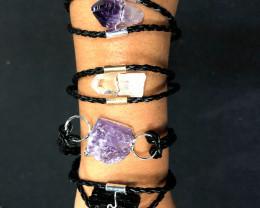 4 x Raw Rock Gemstones Bracelet - BR 986