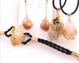 Citrine Lovers Four Piece Jewelry Set - BR 991
