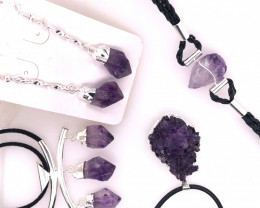 Amethyst Lovers Four Piece Jewelry Set - BR 1012