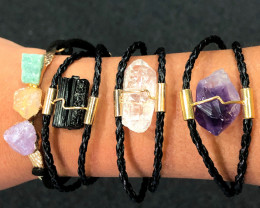 4 x Raw Rock Gemstones Bracelet - BR 1017