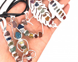 Five Charka Pendants-Seven Chakra - natural stones - BR 2332