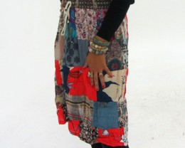 Patchwork Cotton Mid Length Skirt  OP 32