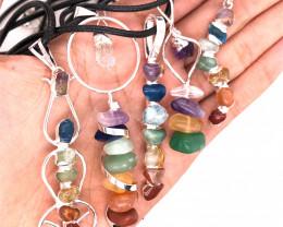 Re sellers Five Holistic  Charka Pendants-Seven Chakra - natural stones - B