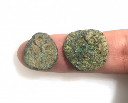 Coins  as found not cleaned Judean Bronze Platina CP 128