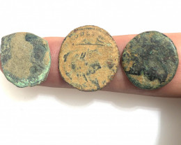 Original Desert Patina on Roman  coins Found Holy land CP 104