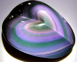 MEXICAN CHATOYANT OBSIDIAN 158 CARATS RT 630
