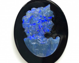 Opal cameo,Traditional design Lady OPJ 2521