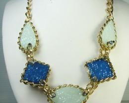 FASHION BLUE -GREYS     STYLE  NECKLACE    QT235