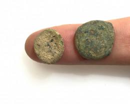 As Found ,2  Nabataean Bronze Coins CP 146