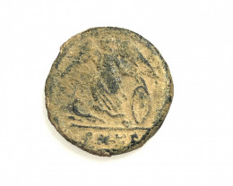 Original Desert Patina on Roman  coin Found Holy land CP149