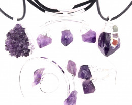 Amethyst Lovers Six Piece Jewelry Set - BR 1128