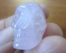 Natural Rose Quartz Skull AGR 1390
